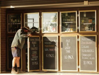 Drive-thru Bottle Shop and coffee